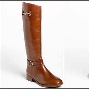 $550 Tory Burch Nadine Riding Boots Leather 7.5